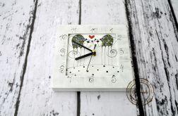 zegar mały zakochane kotki