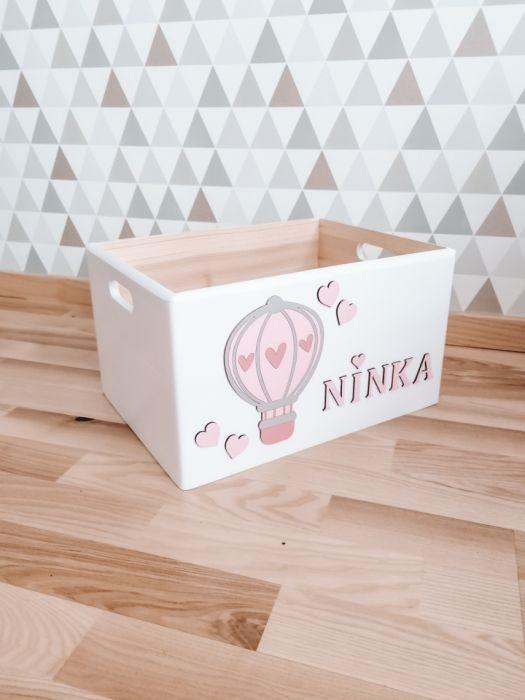 Pudełko skrzynka na zabawki BALONIK MAŁY - skrzynka pudełko pojemnik na zabawki balonik loo loo dream