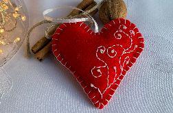 Dekoracja świąteczna z filcu z ozdobnym haftem - wzór 010