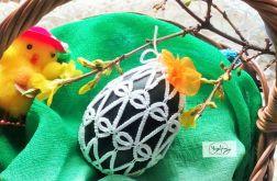WIELKANOCNE Koszulki frywolitki na jajko 4szt