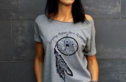 """t-shirt """"ŁAPACZ SNÓW"""" - SZARA"""