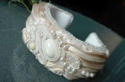 Bransoletka  ślubny SHIBORI silk ribbon #3