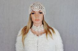 Lady eL czapka szydełkowa ecru