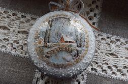 Bombka medalion domek #12