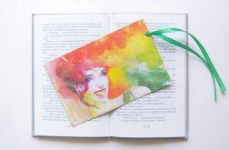Kolorowa zakładka do książki - woman nr2
