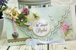 Kopertówka ślubna- serce w różanym ogrodzie
