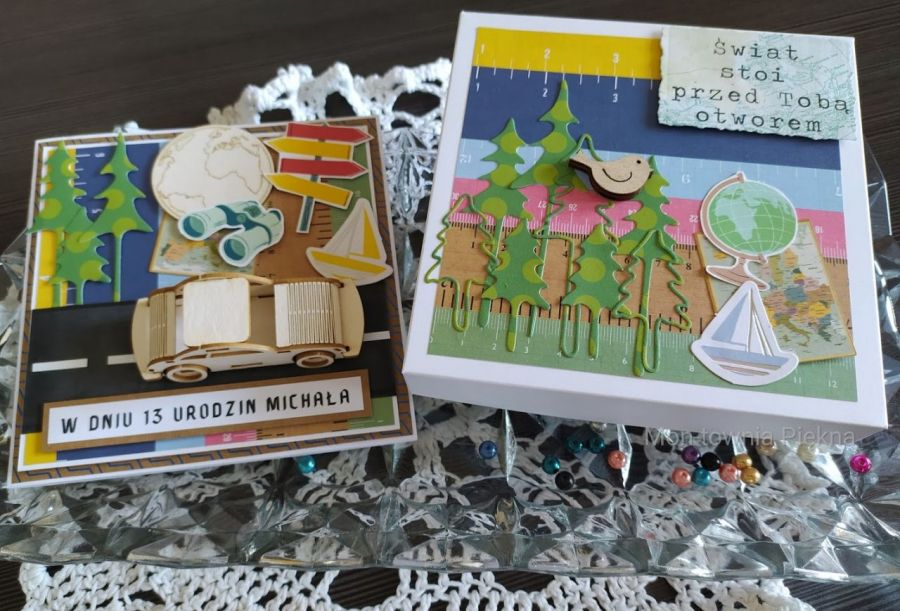Kartka urodzinowa dla nastolatka - Komplet - kartka i pudełko