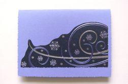 Zimowa zawierucha-kartka świąteczna