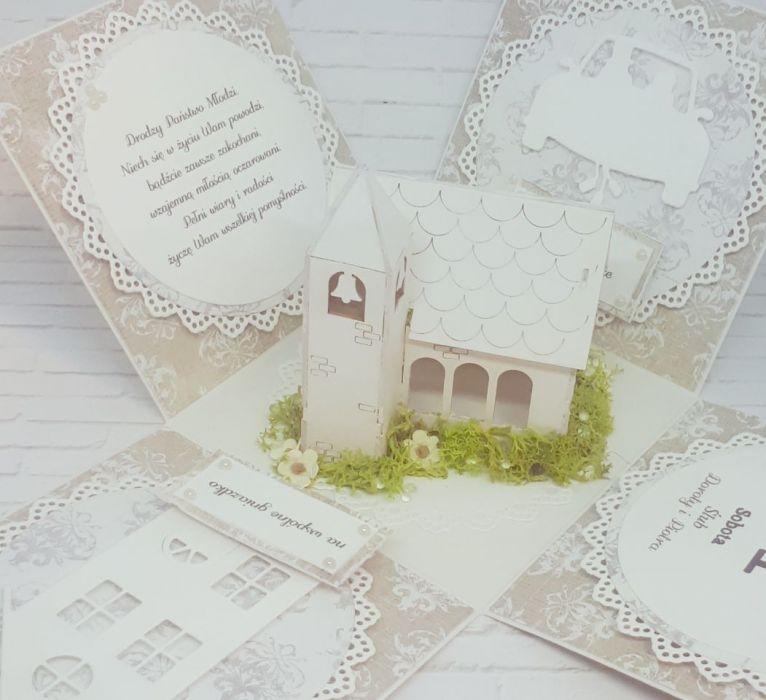 Ślubne pudełko...karnet -