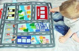Mata edukacyjna dla chłopca 3+ ulica