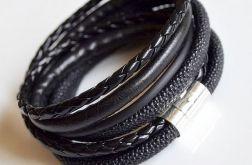 Bransoletka black i black