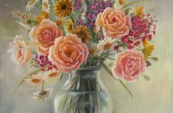 Kolory Lata, ręcznie malowany obraz