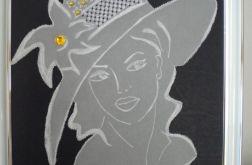 Kobieta w kapeluszu - obraz