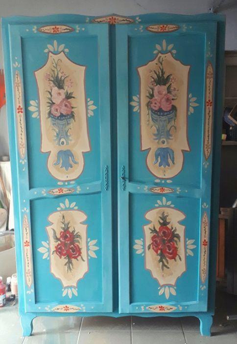 szafa recznie malowana