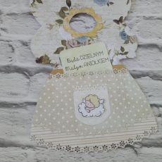 Kartka sukieneczka + koperta na wymiar