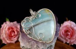Srebrny wisior z amazonitem wire wrapped