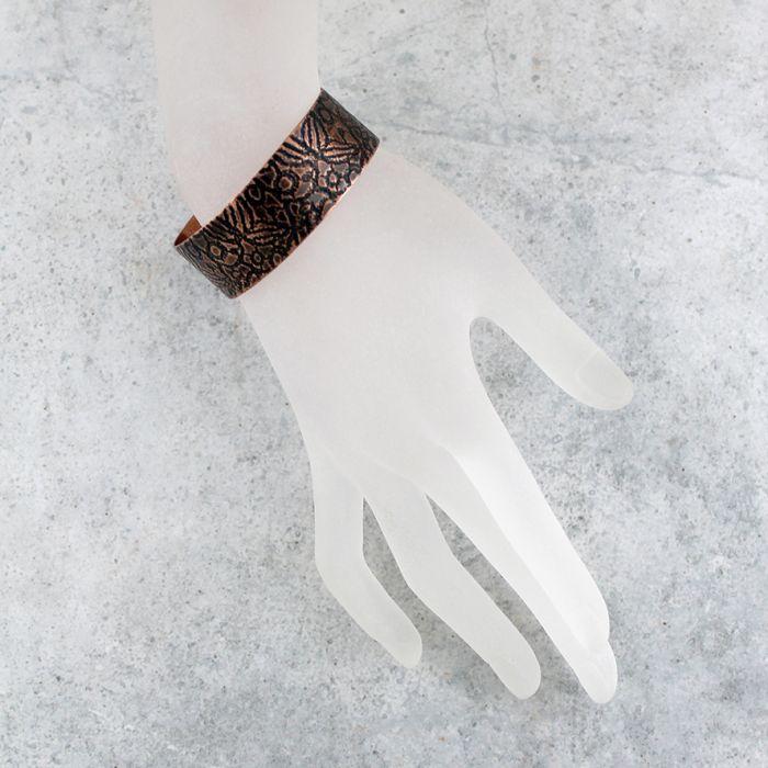 Liście - miedziana bransoletka 180913-03 - Miedziana bransoleta