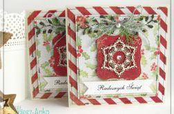 Kartka świąteczna ze śnieżynką 4