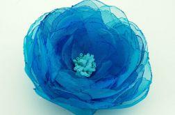 Broszka kwiat - TURKUS 9 cm
