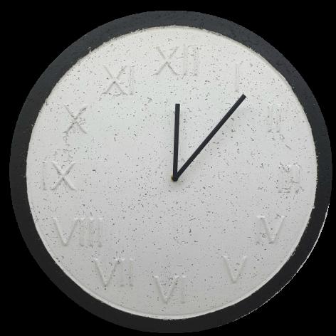 Zegar Ścienny Betonowy Roman Biały Czarny 45