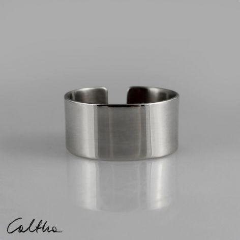 Gładki - srebrna obrączka 190608-03