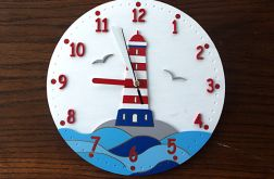 Zegar dla dziecka z latarnią morską