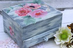 Toaletka z lusterkiem i szufladką, romantyczna, kwiaty