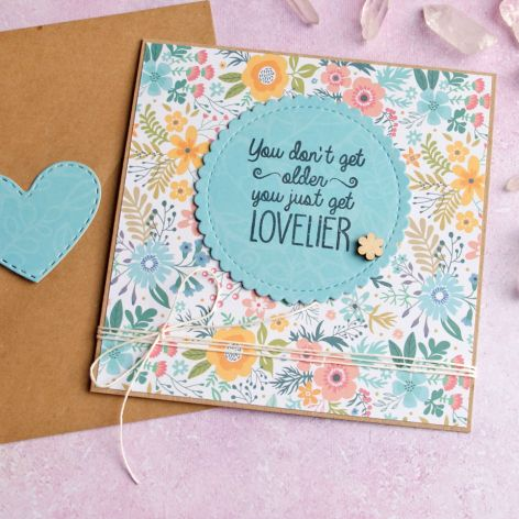 UROCZA KARTKA URODZINOWA kwiatuszki