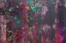 Obraz abstrakcja brązowy 40x40