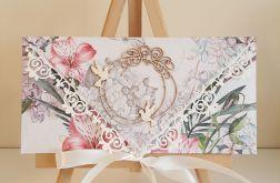 Kartka ślubna kopertówka - gołąbki 2