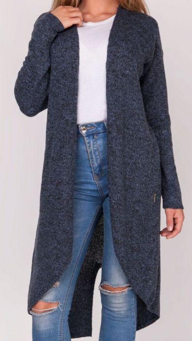 Kardigan długi sweter,frak