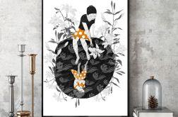 Biała Lilia... art print