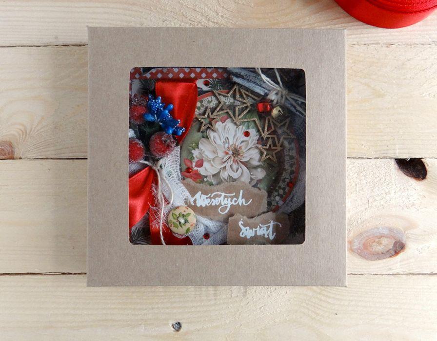 Kartka świąteczna w pudełku VINTAGE #1 - Z góry