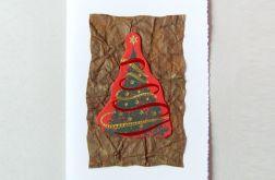 Kartka świąteczna z choinką nr2