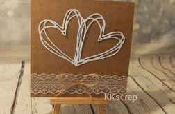 Minimalistyczna kartka ślubna