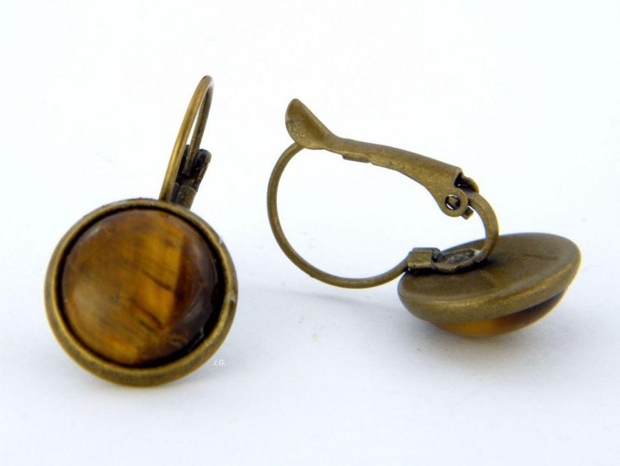 Tygrysie oko - kolczyki