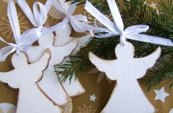 Anioły zawieszki na choinkę komplet 4 sztuk
