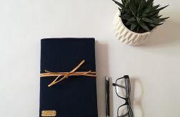 Notes w okładce z filcu GRANATOWY
