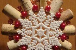"""wieniec bożonarodzeniowy """"winna śnieżynka"""""""