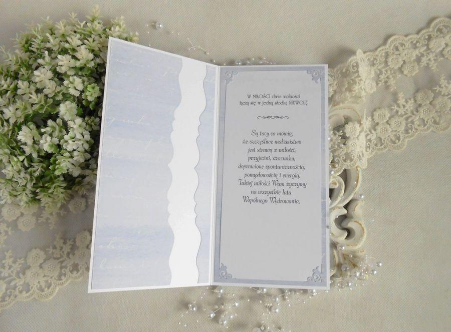 Ślubna kartka DL w pudełku 100 -