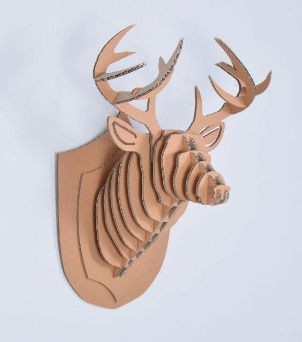 GŁOWA jelenia TROFEUM ozdoba 3D poroże M