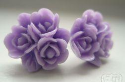 Kolczyki - liliowe kwiatuszki