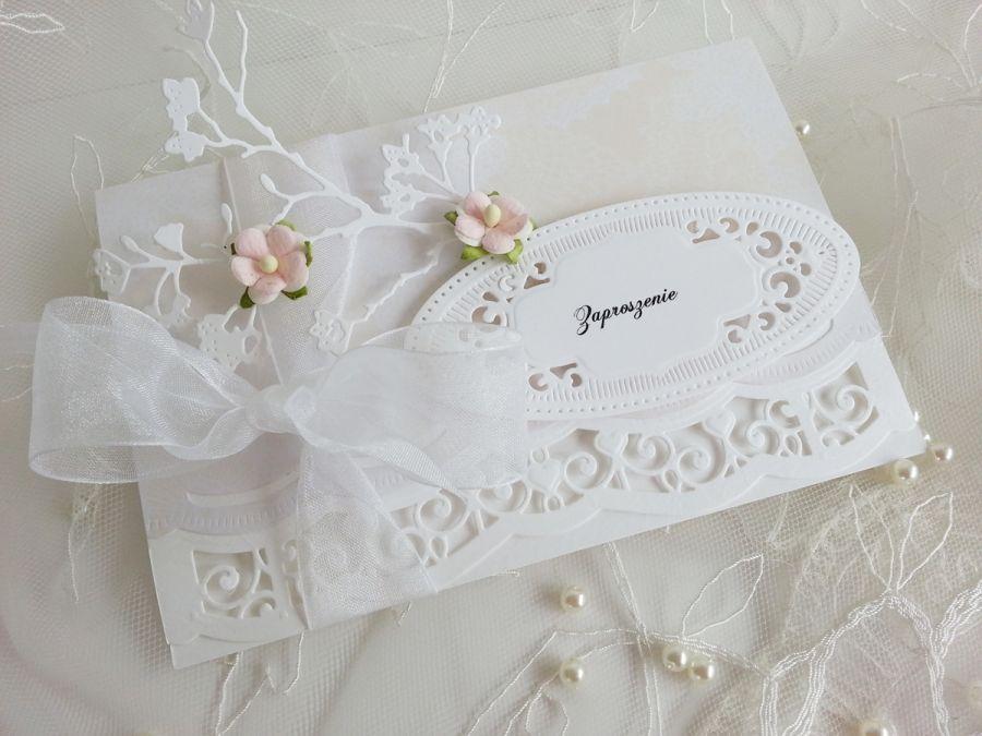 Ażurowe Zaproszenie Na ślub Miszmasz Papierowy