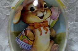 "Jajko akrylowe 3D ""Królik"""