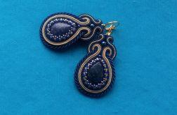 Z Naturalnym kamieniem Lapis Lazuli kolczyki