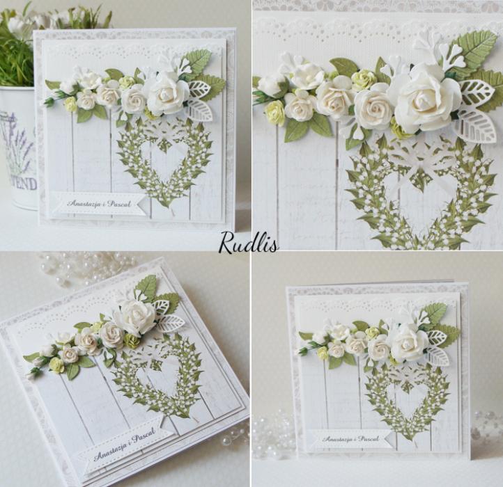 Kartka ślubna z bukietem kwiatów v.2 - buk3v