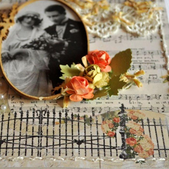 Kartka Ślub w stylu Vintage