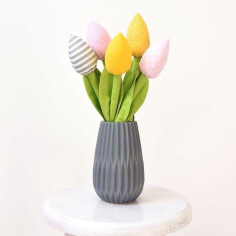Bukiet tulipanów szary róż żółty