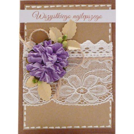 Fioletowy kwiat kartka Urodziny lub Imieniny