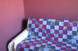 narzuta patchwork fioletowa